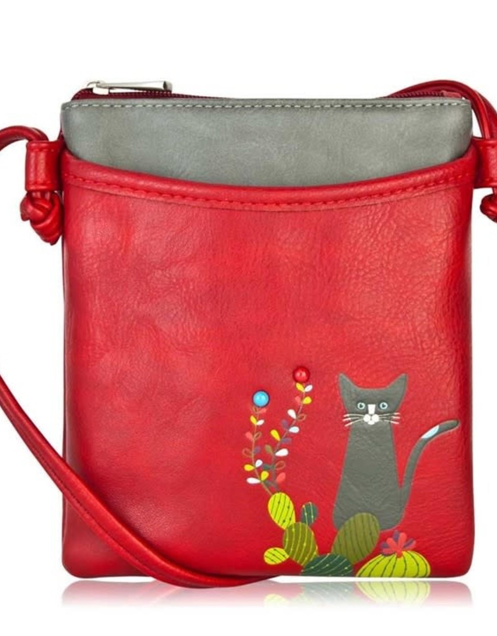 ESPE Petit sac chat cactus - Rouge