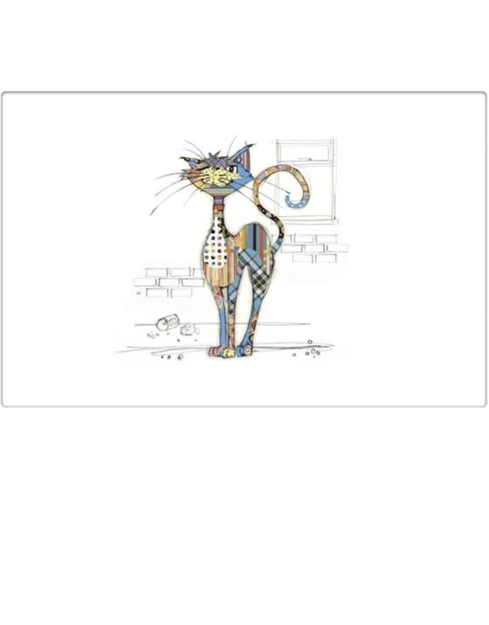 Napperon chat bleu- multi