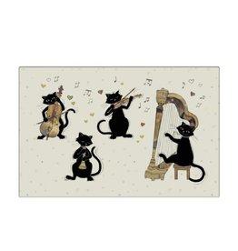 Napperon chats musiciens