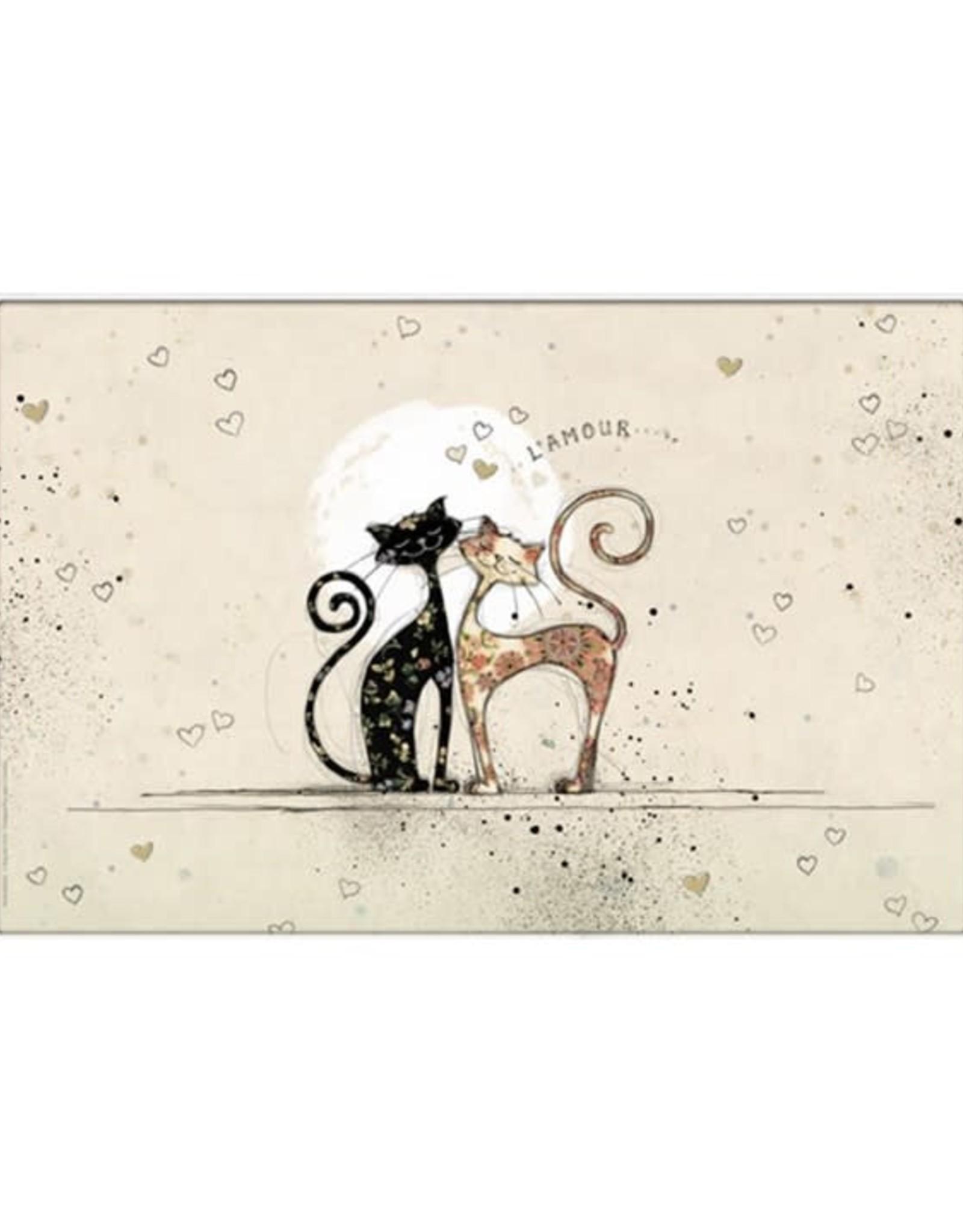 Napperon chat amoureux