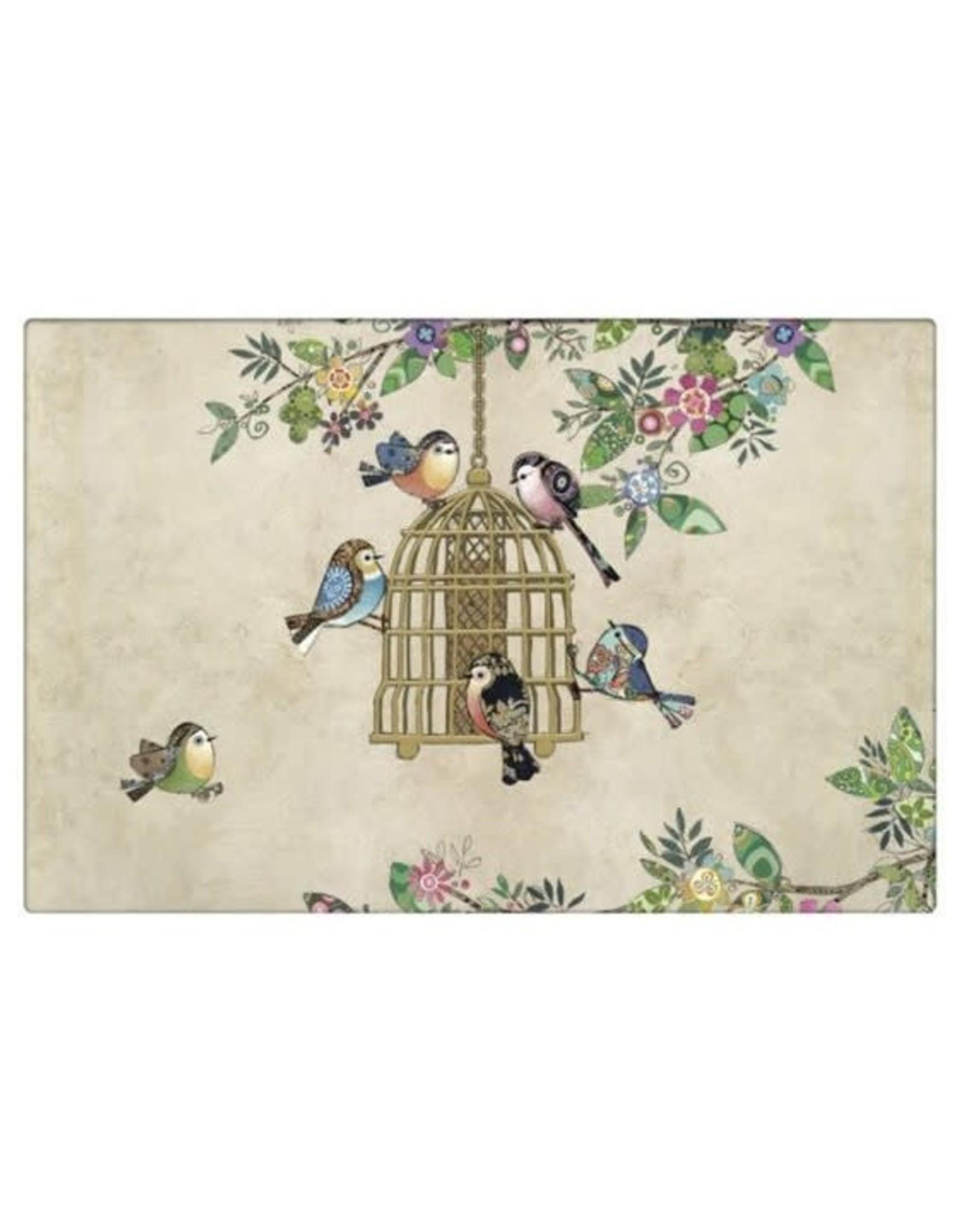 Napperon Oiseaux + cage