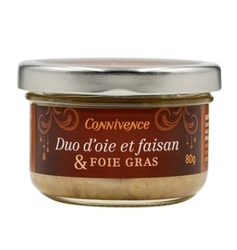 Terrine d'oie et faisan & Foie gras