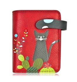 ESPE Petit portefeuille chat cactus - Rouge