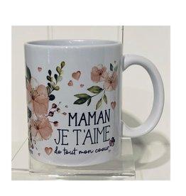 Fabrique Champêtre Tasse Maman fleurs roses