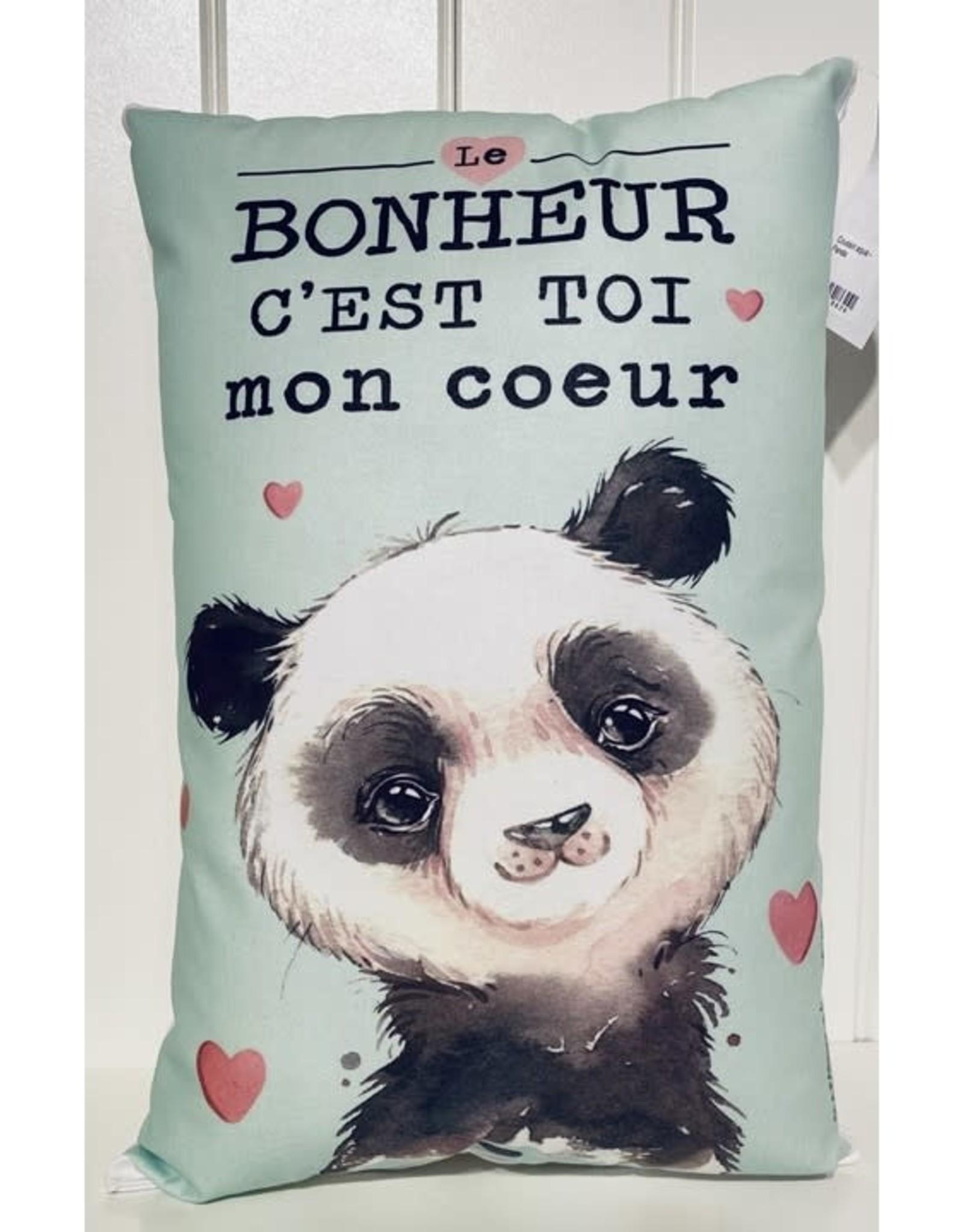 Fabrique Champêtre Coussin Panda - Aqua