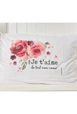 Fabrique Champêtre Taie d'oreiller - Je t'aime ( romance )
