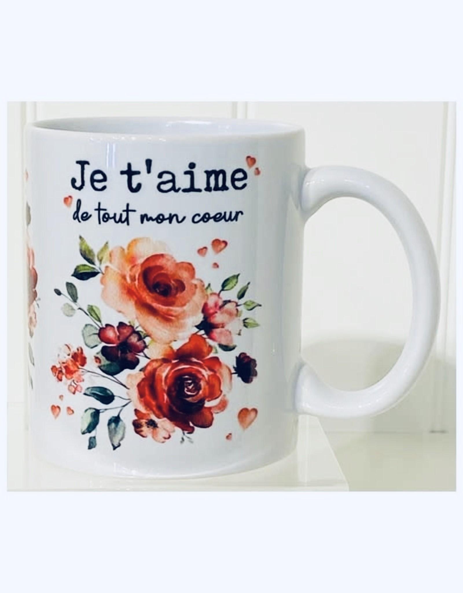 Fabrique Champêtre Tasse Je t'aime - Romance