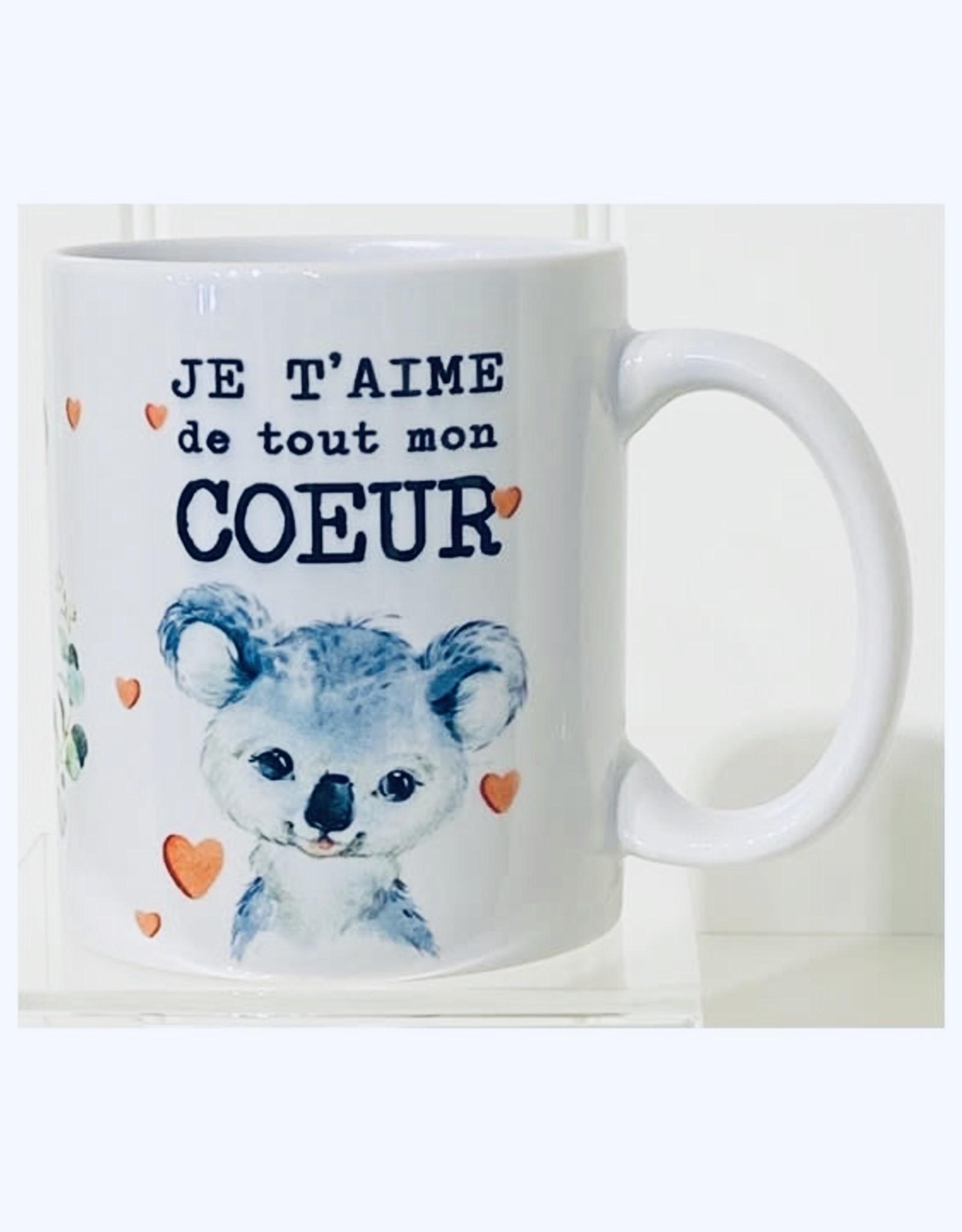 Fabrique Champêtre Tasse koala -  Je t'aime