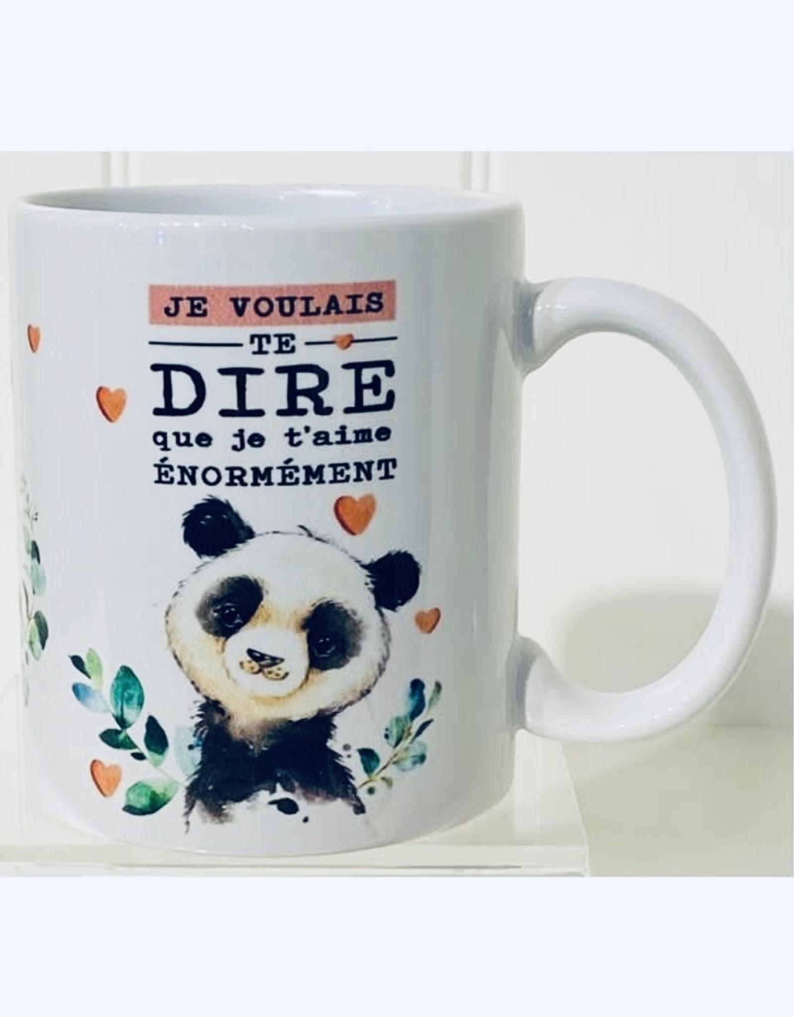Fabrique Champêtre Tasse panda je t'aime