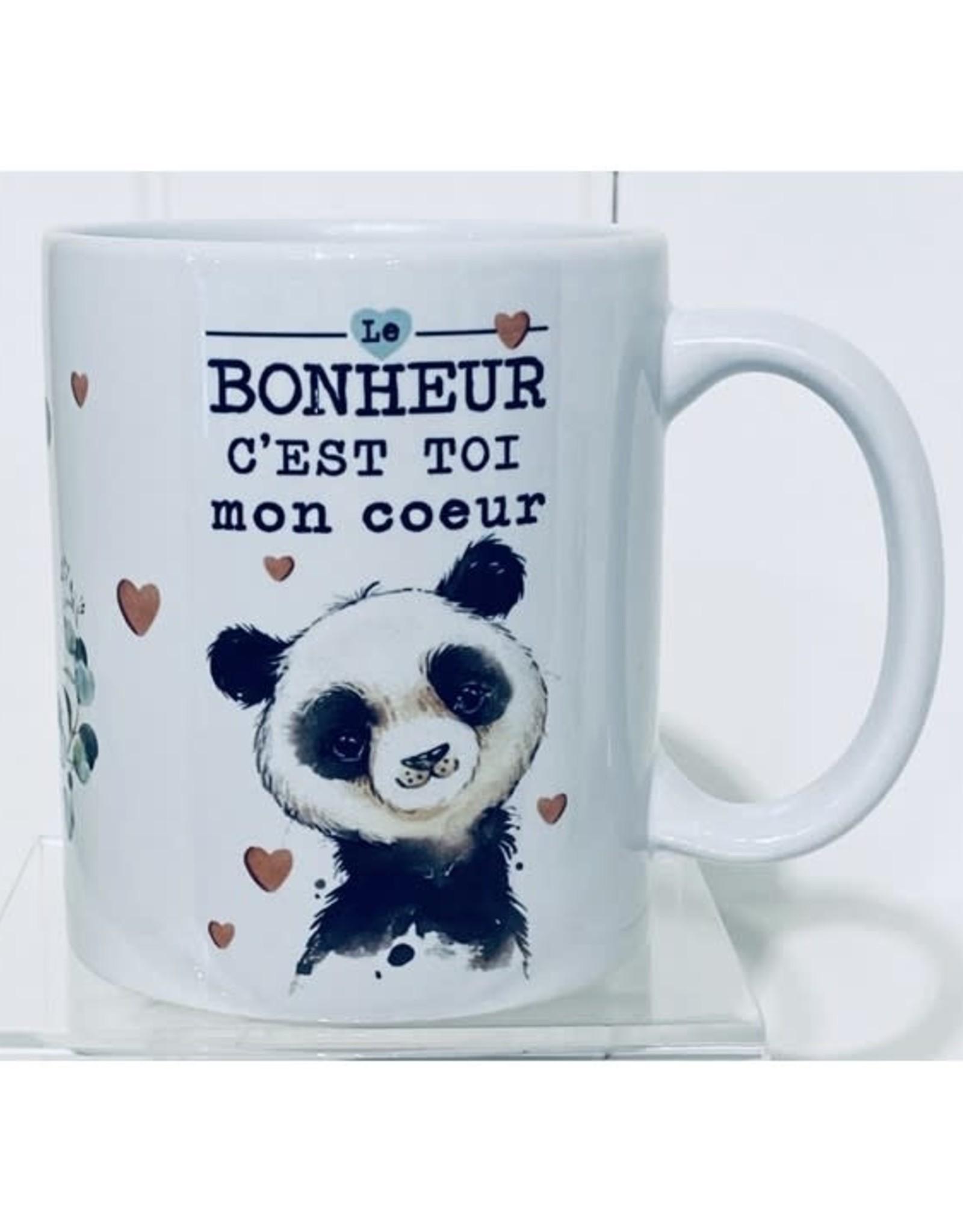 Fabrique Champêtre Tasse panda - C'est toi mon coeur