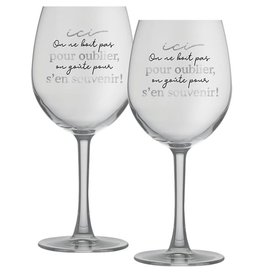 Chantal Lacroix Duo verre à vin - Souvenir