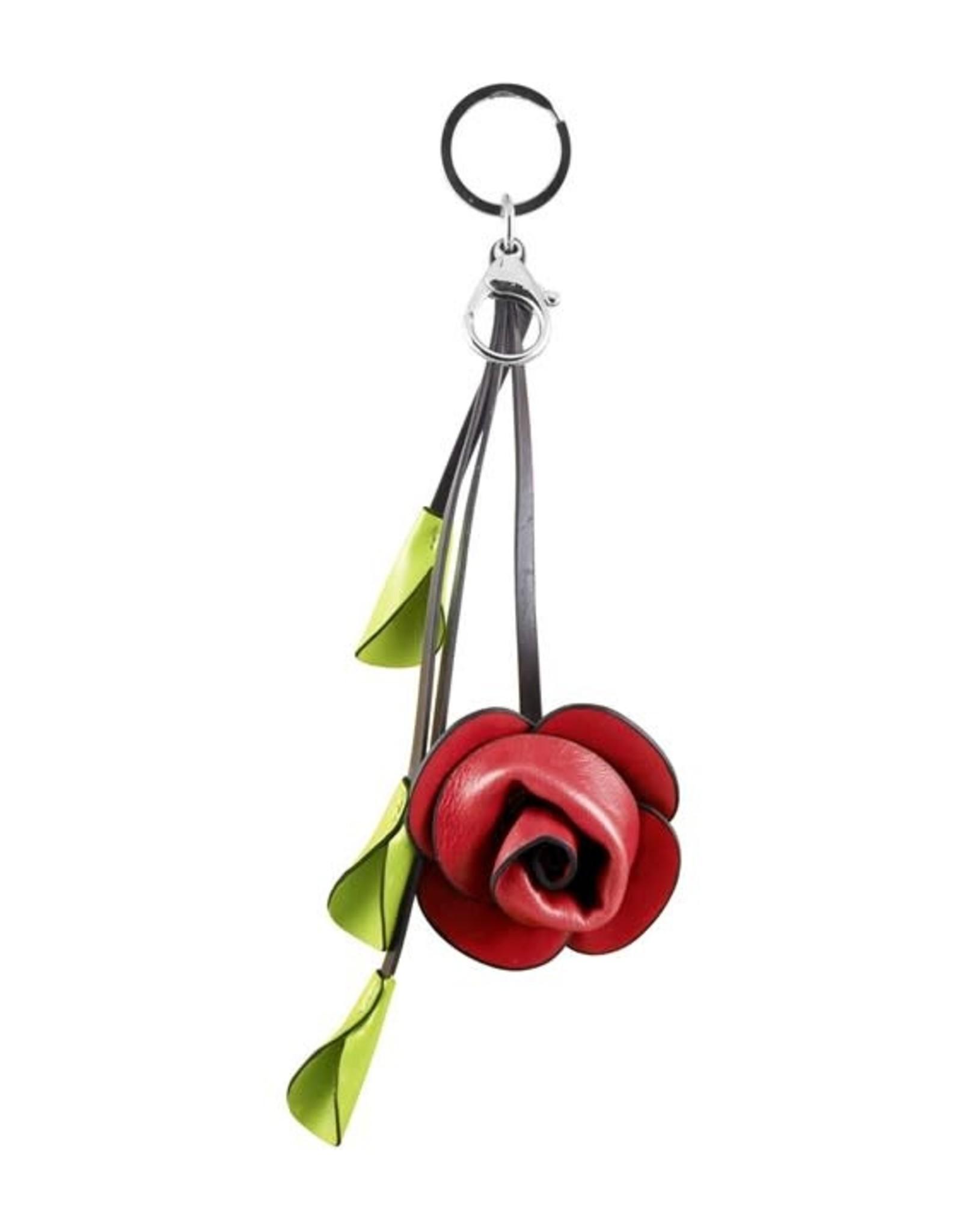 ESPE Porte-clé fleur rouge