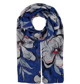 Fraas Foulard fleurs tropicales- bleu