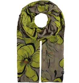 Fraas Foulard fleurs tropicales - taupe