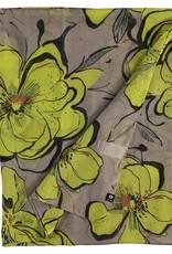 Fraas Foulard fleurs tropicales - taupe