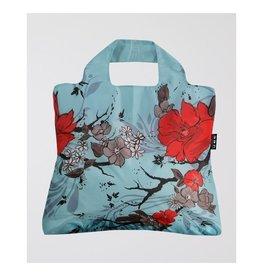 Envirosax Sac magasinage bleu - Fleur rouge