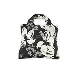 Envirosax Sac magasinage noir fleurs grises