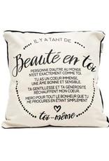 Chantal Lacroix Coussin la Beauté en toi