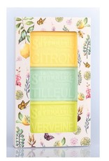 Ens. 3 savons - Citron , tilleul , verveine
