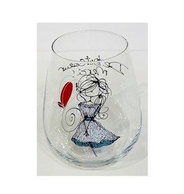 Bizzart & cie Verre à vin sans pied  fille blanche  - Merci