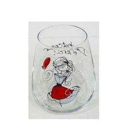 Bizzart & cie Verre à vin sans pied  robe Rouge  - Merci