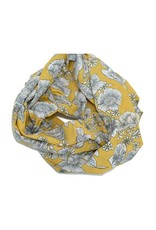 Baluchon Foulard infini  fleuri jaune #1860-1452