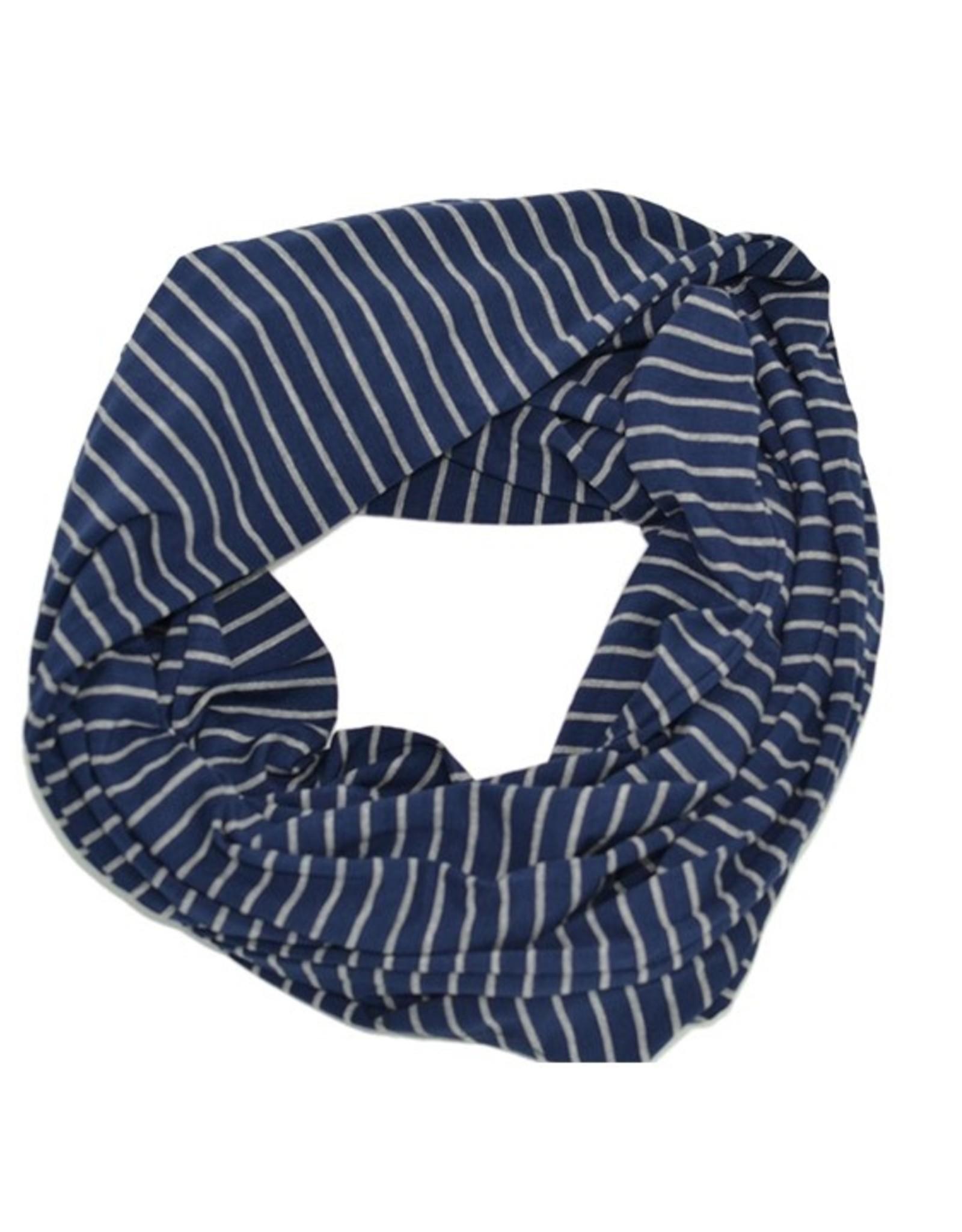 Baluchon Foulard infini rayure marine #1863-1451