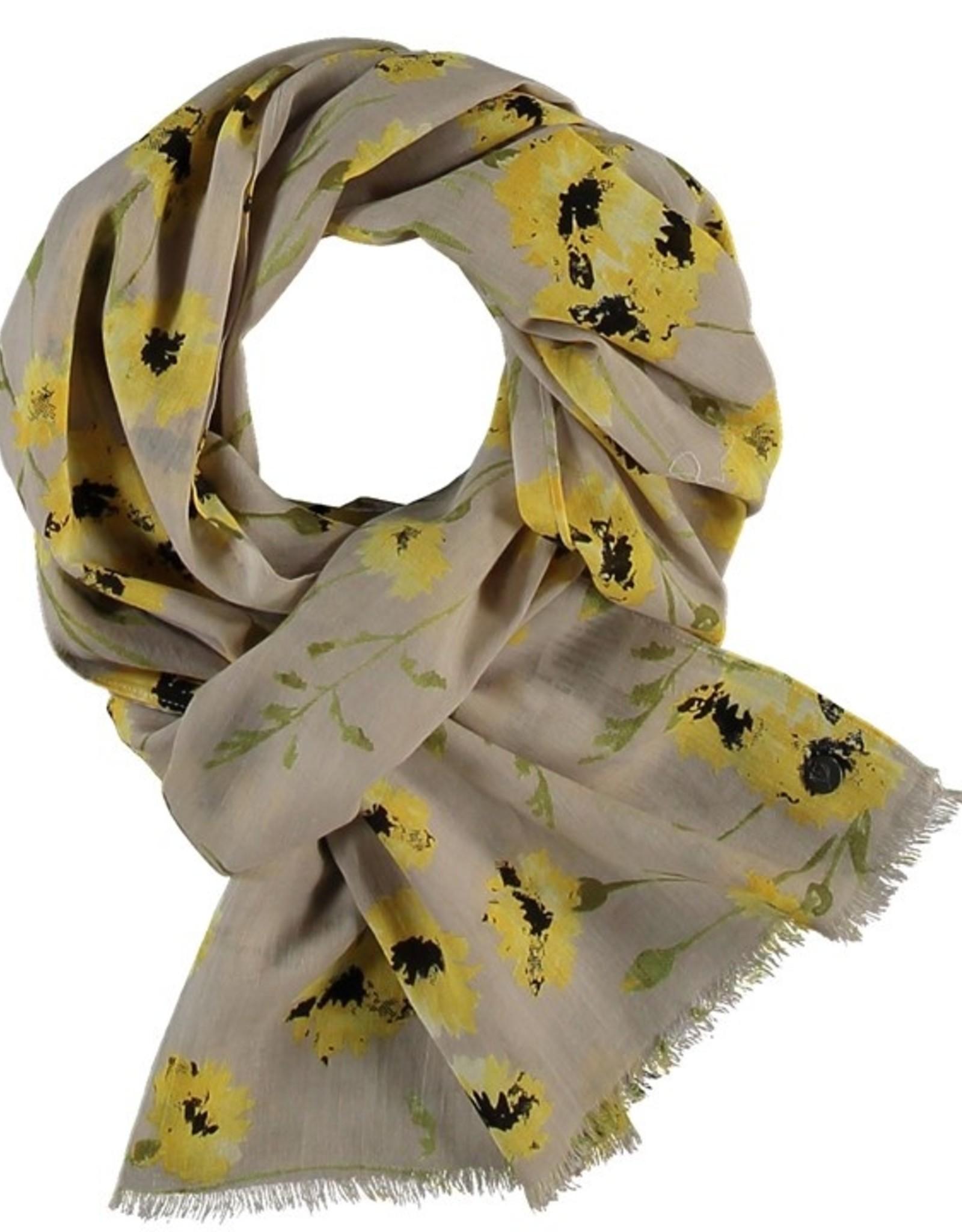 Fraas Foulard fleurs sauvages - Jaune