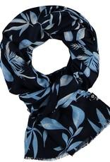 Fraas Foulard feuillage - Bleu