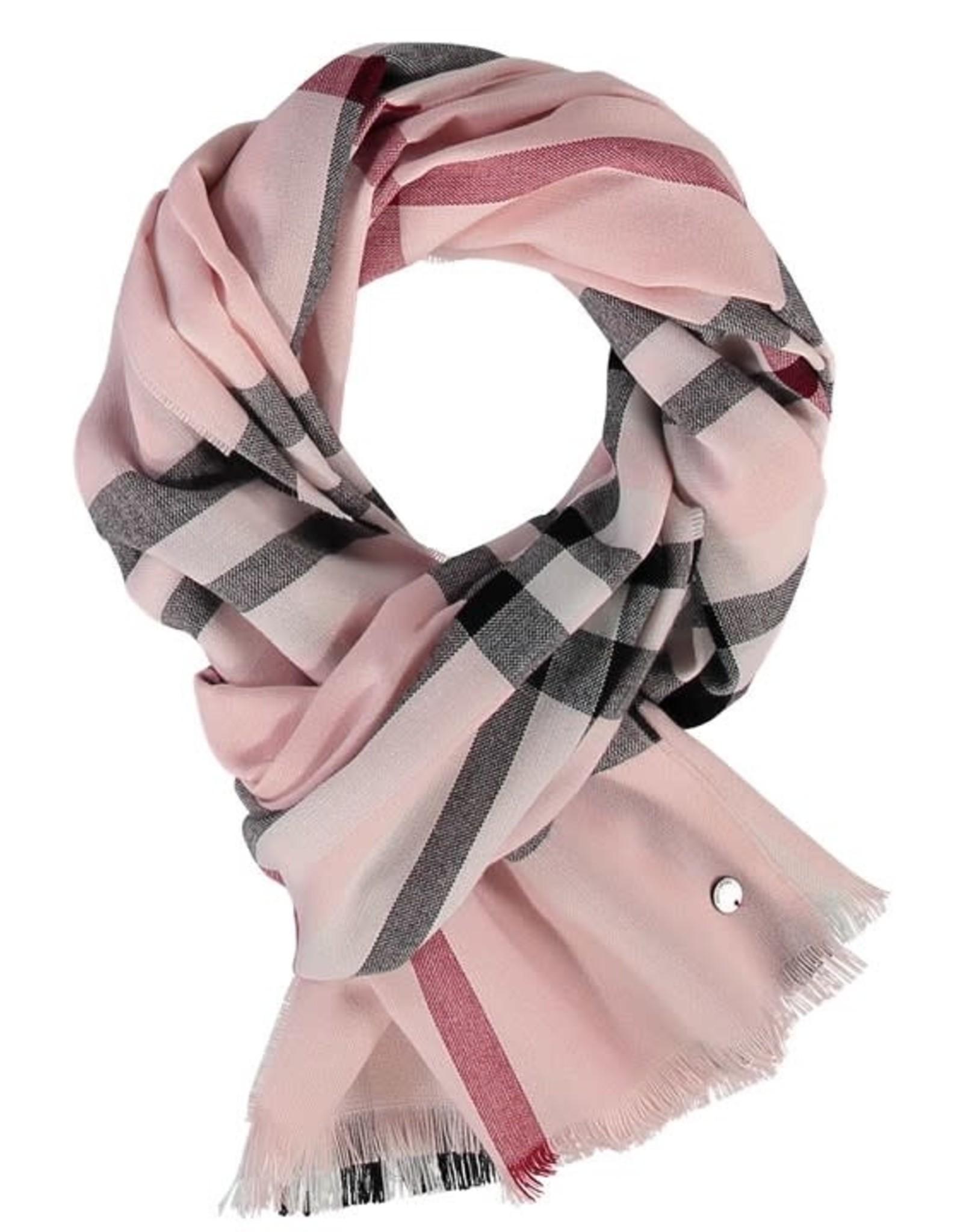 Fraas Foulard léger carreaux - Rose