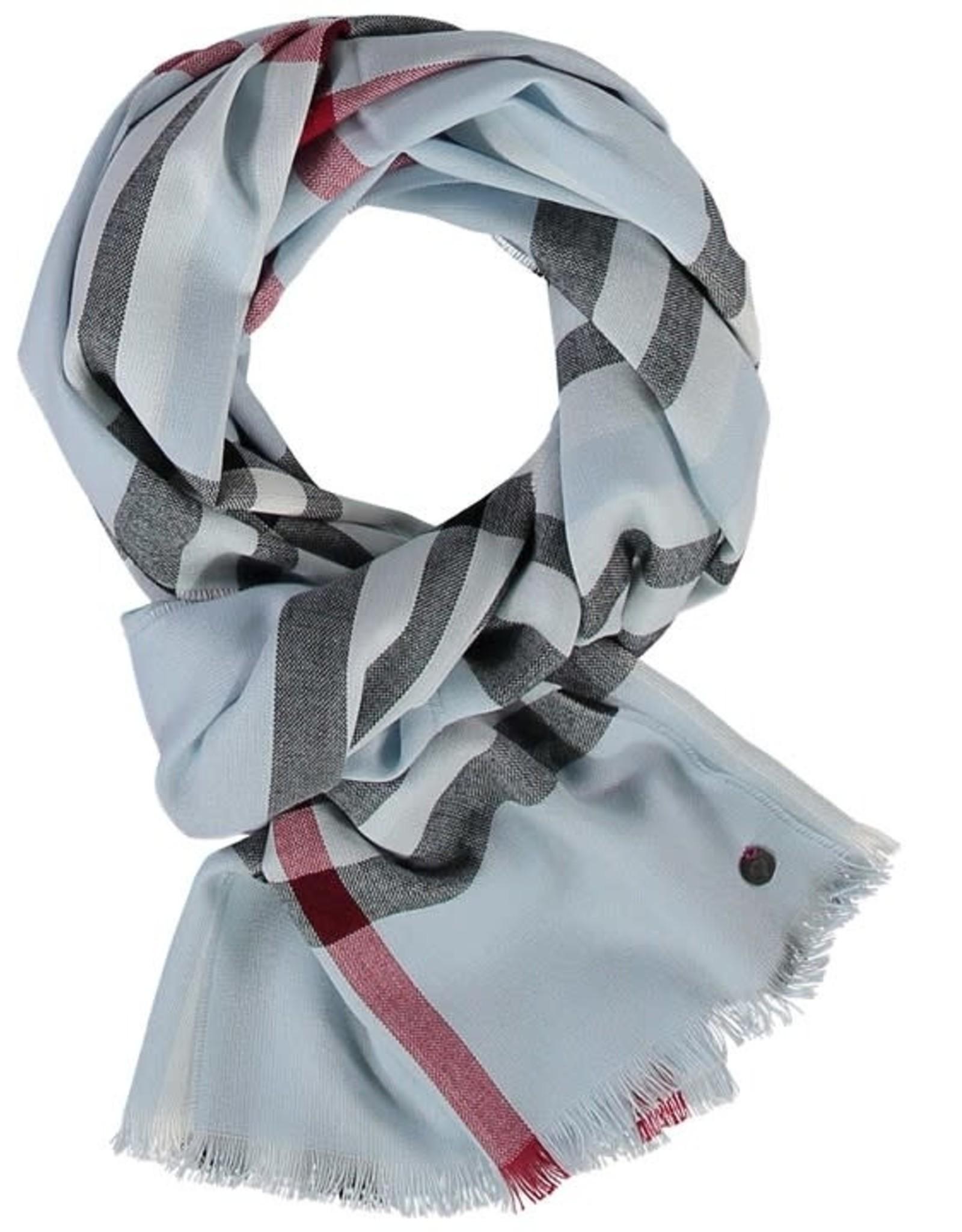 Fraas Foulard léger carreaux - Bleu