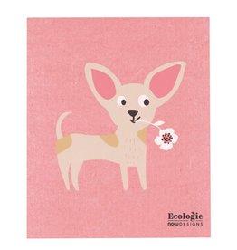 Lingette chien rose