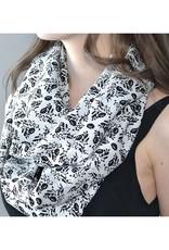 Baluchon Foulard infini noir & blanc #1860-1303