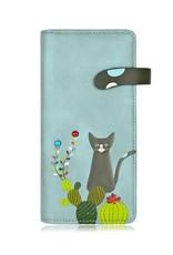 ESPE Portefeuille chat cactus - bleu