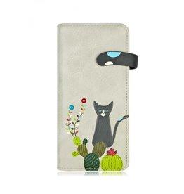 ESPE Portefeuille chat cactus - Gris