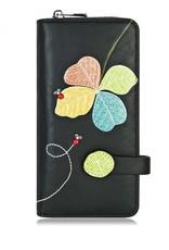 ESPE Portefeuille clutch scarlet fleurs - Noir