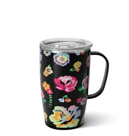 Swig Tasse thermos - Noir fleuri