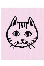 Lingette figure de chat - rose