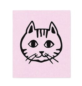 Lingette figure de chat - rose