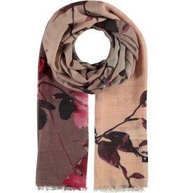 Fraas Foulard Floral Rose - laine