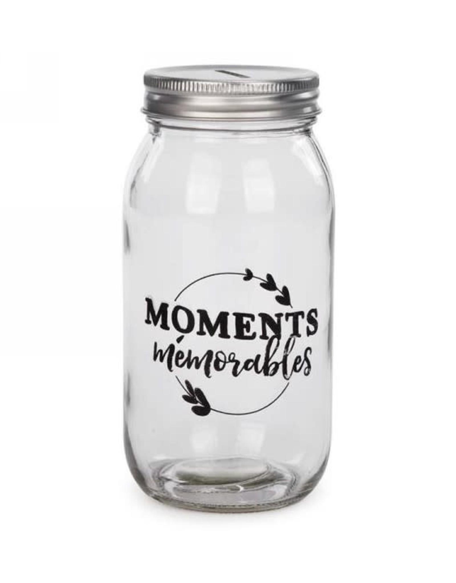 Bocal tirelire- Moments mémorables