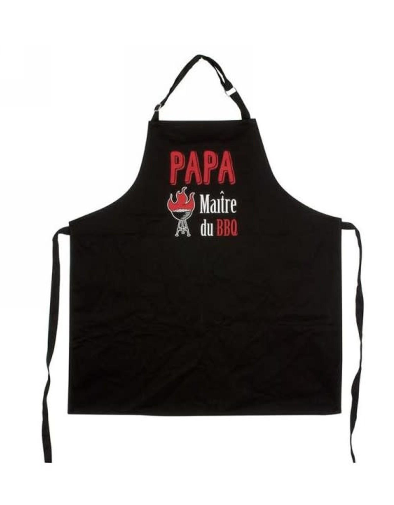 Tablier noir - Papa maître du BBQ