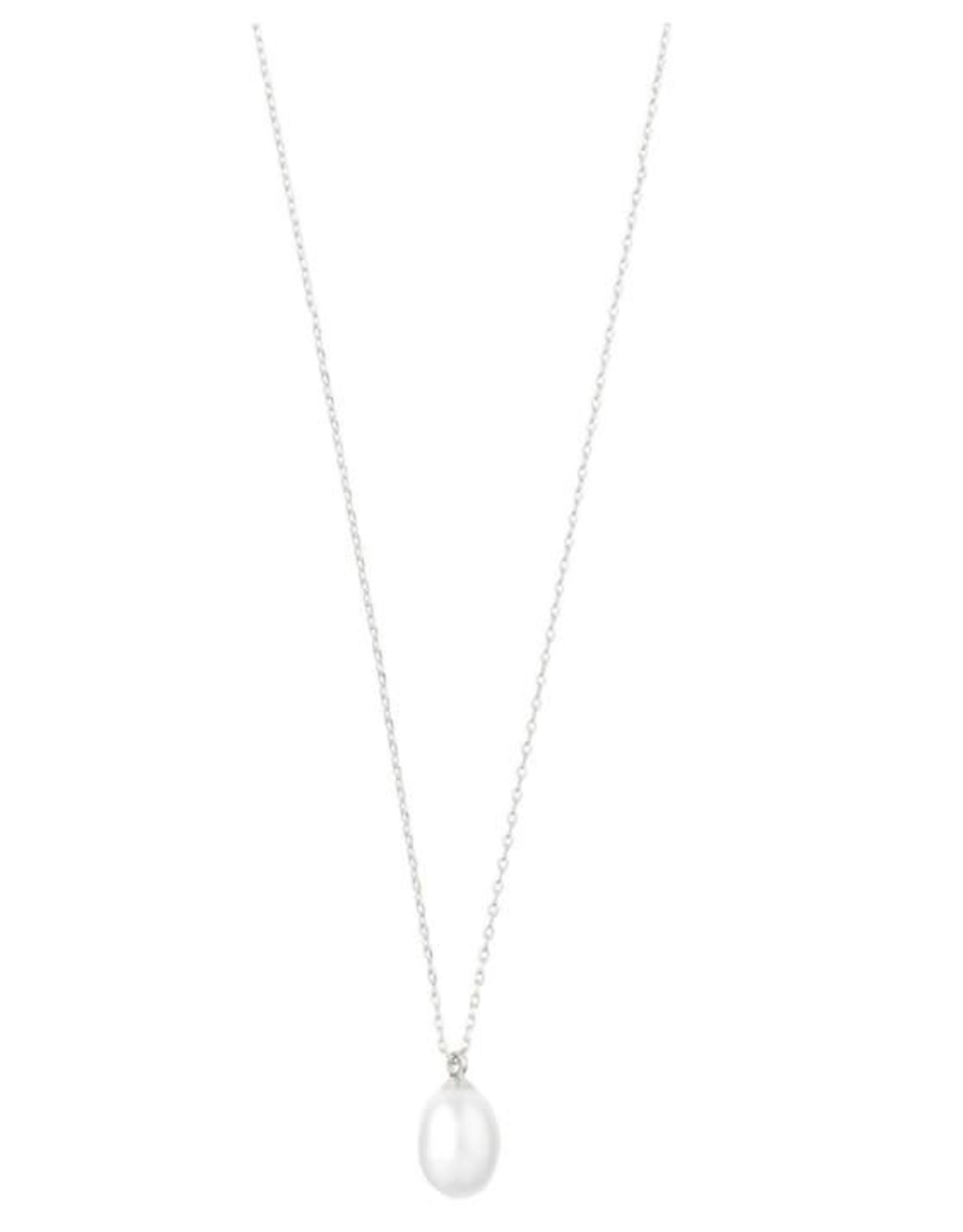 Pilgrim Collier perle blanche - Argent