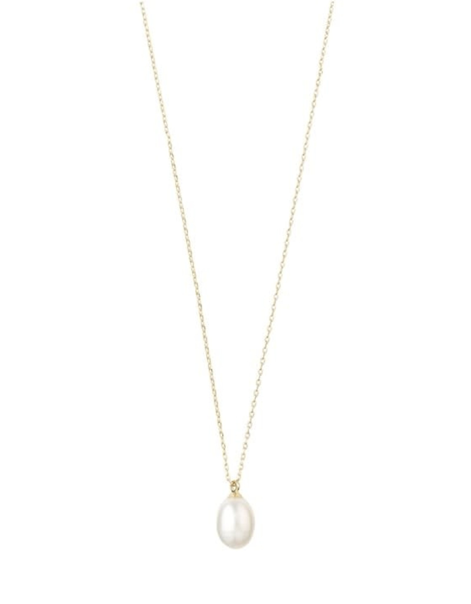 Pilgrim Collier perle blanche - Or