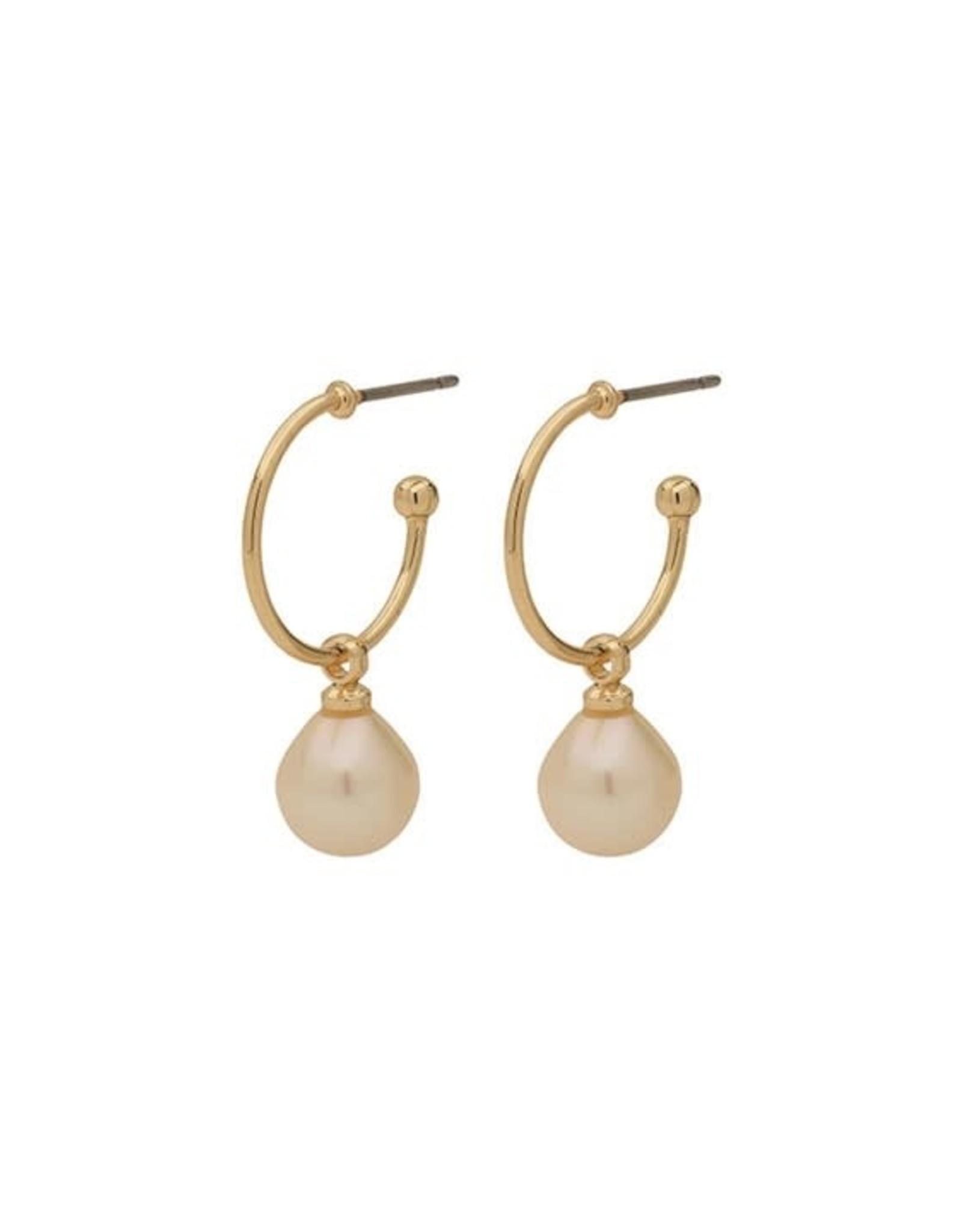 Pilgrim B.O anneau perle blanche - Or