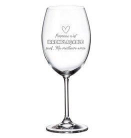 La maison du bar Verre à vin - Meilleure amie irremplaçable