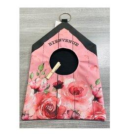 Fabrique Champêtre Sac épingle à linge - Bienvenue rose