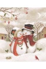 Serviette de Table - 2 bonhommes de neige
