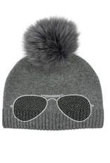 Tuque grise  - lunette