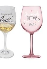 Chantal Lacroix Ens. verre à vin - Pause + je prends du temps